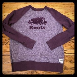 Roots Canada size M purple and grey sweatshirt